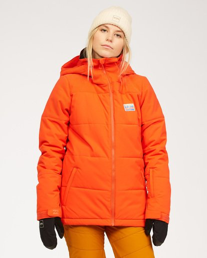 0 Women's Down Rider Snow Jacket Orange JSNJ3BDR Billabong