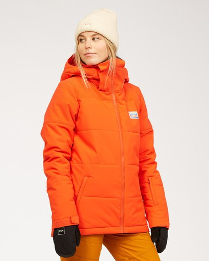 1 Women's Down Rider Snow Jacket Orange JSNJ3BDR Billabong