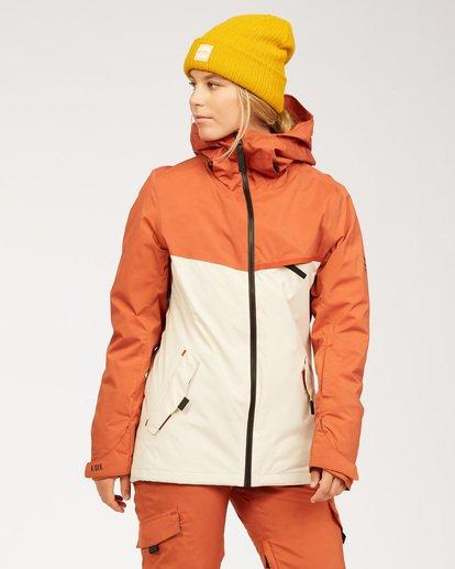 0 A/DIV Women's Eclipse Snow Jacket Red JSNJ3BEC Billabong