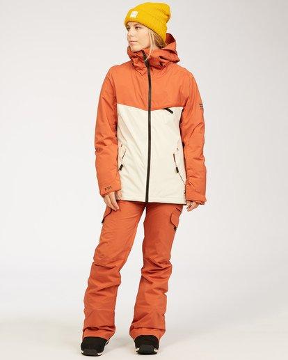 4 A/DIV Women's Eclipse Snow Jacket Red JSNJ3BEC Billabong