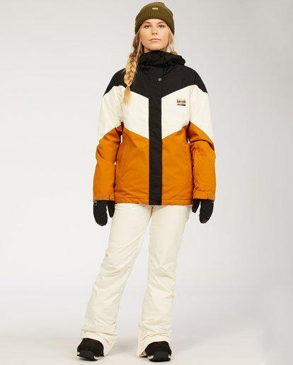 4 Women's Good Life Snow Jacket Brown JSNJ3BGL Billabong