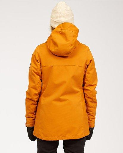 3 Women's Go Outside Snow Jacket Brown JSNJ3BGO Billabong