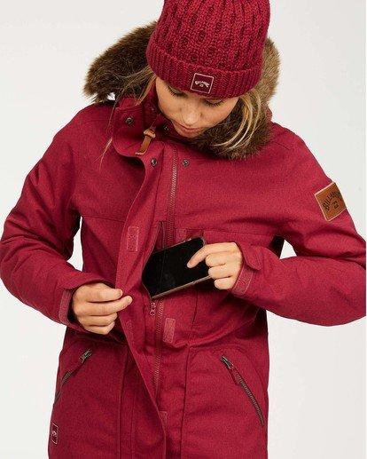 5 Women's Into The Forest Snow Jacket Red JSNJ3BIN Billabong