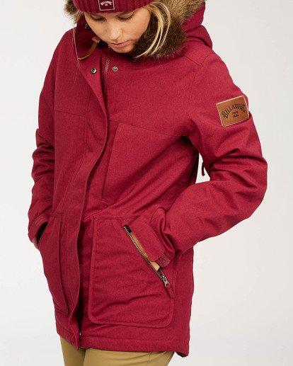 6 Women's Into The Forest Snow Jacket Red JSNJ3BIN Billabong