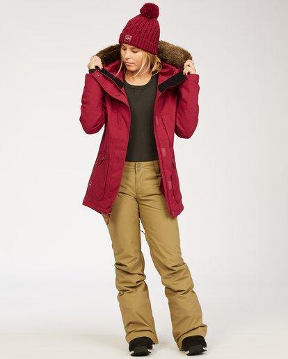 4 Women's Into The Forest Snow Jacket Red JSNJ3BIN Billabong