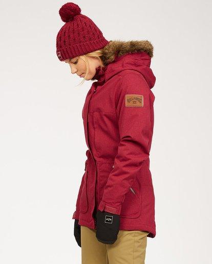 1 Women's Into The Forest Snow Jacket Red JSNJ3BIN Billabong