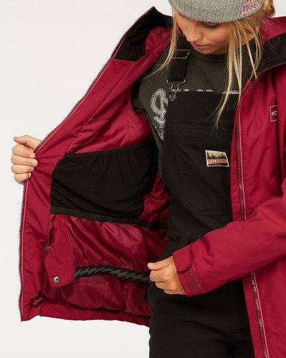 6 Women's Sula Snow Jacket Red JSNJ3BSU Billabong