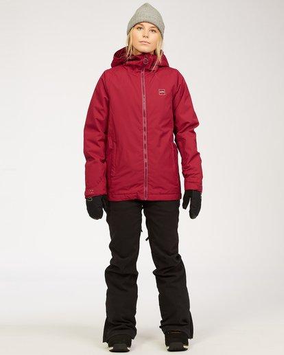 4 Women's Sula Snow Jacket Red JSNJ3BSU Billabong