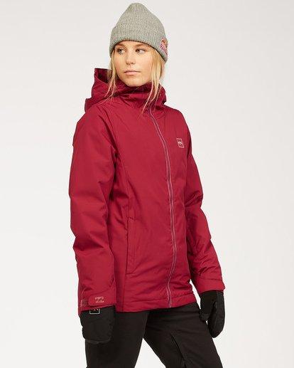 2 Women's Sula Snow Jacket Red JSNJ3BSU Billabong