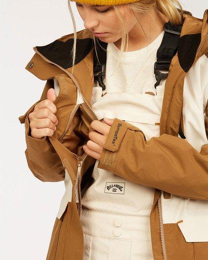 5 A/DIV Women's Trooper STX Snow Jacket Brown JSNJ3BTS Billabong