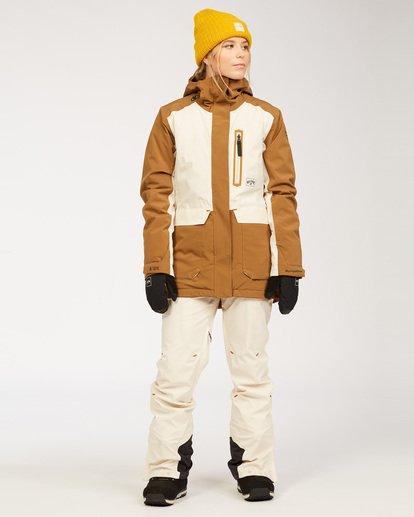 4 A/DIV Women's Trooper STX Snow Jacket Brown JSNJ3BTS Billabong
