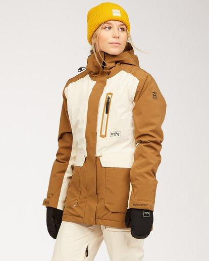 1 A/DIV Women's Trooper STX Snow Jacket Brown JSNJ3BTS Billabong