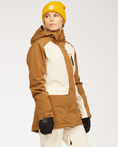 2 A/DIV Women's Trooper STX Snow Jacket Brown JSNJ3BTS Billabong