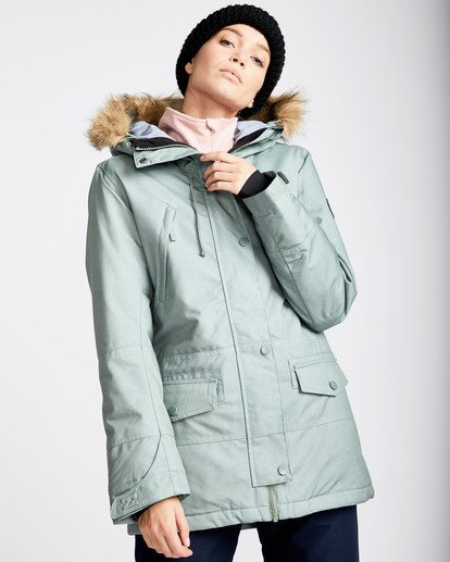 0 Women's Nora Snow Jacket Green JSNJQNOR Billabong