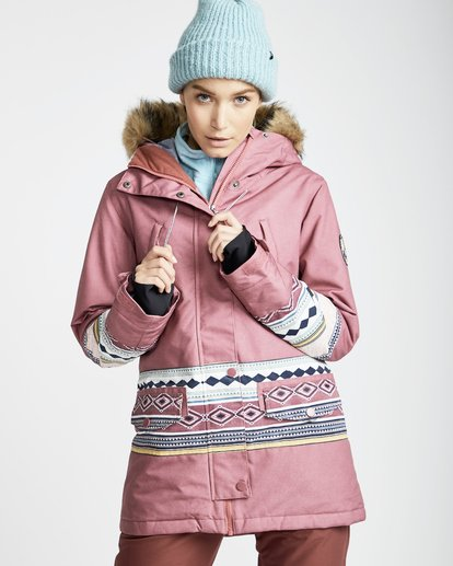 3 Women's Nora Snow Jacket Multicolor JSNJQNOR Billabong