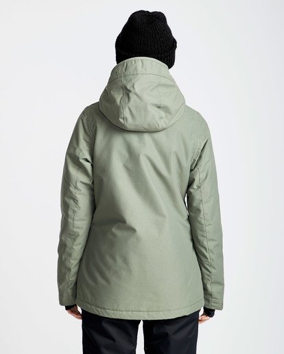 1 Women's Sula Solid Outerwear Jacket Green JSNJQSUL Billabong