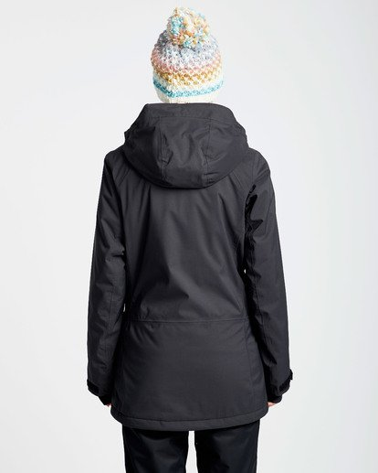 2 Women's Sula Solid Outerwear Jacket Black JSNJQSUL Billabong