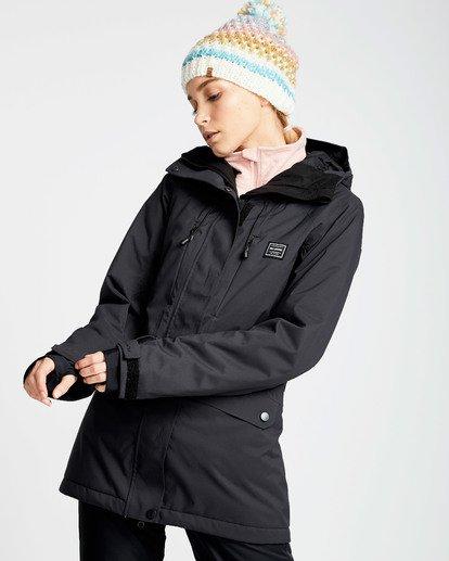 1 Women's Sula Solid Outerwear Jacket Black JSNJQSUL Billabong