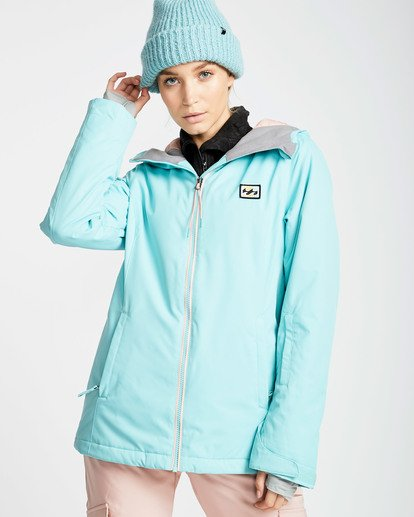0 Women's Sula Solid Outerwear Jacket Blue JSNJQSUL Billabong