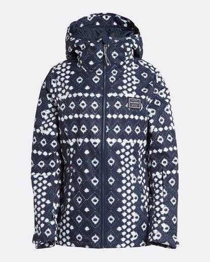 8 Women's Sula Print Outerwear Jacket Blue JSNJQSUP Billabong