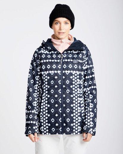 0 Women's Sula Print Outerwear Jacket Blue JSNJQSUP Billabong