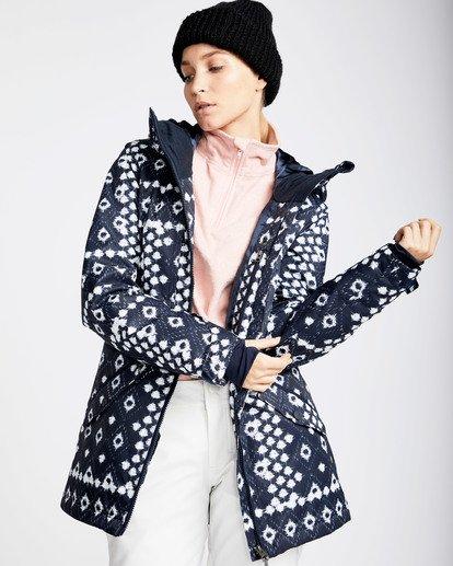 1 Women's Sula Print Outerwear Jacket Blue JSNJQSUP Billabong