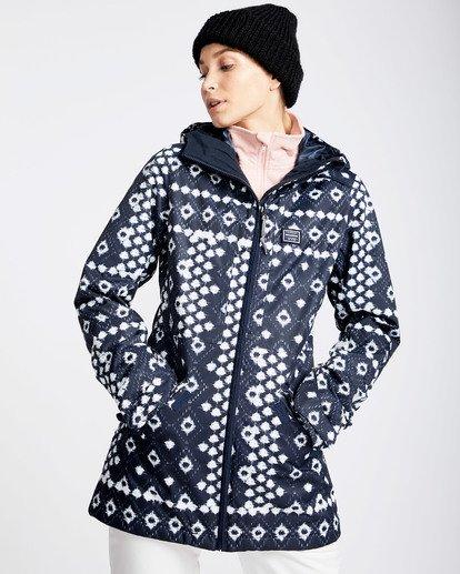 2 Women's Sula Print Outerwear Jacket Blue JSNJQSUP Billabong