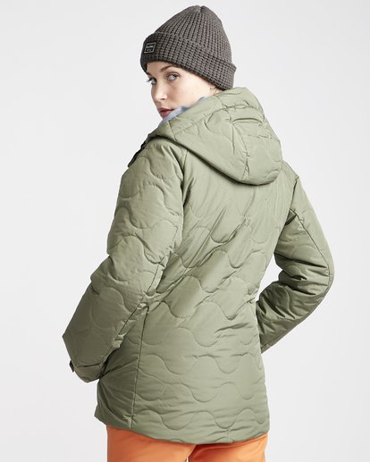 3 Women's Bliss Snow Jacket Green JSNJVBBL Billabong
