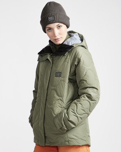 2 Women's Bliss Snow Jacket Green JSNJVBBL Billabong