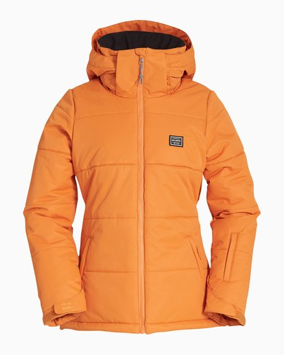 4 Women's Down Rider Snow Jacket Orange JSNJVBDR Billabong