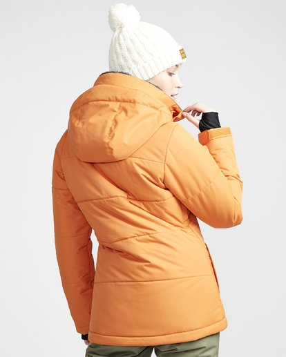 1 Women's Down Rider Snow Jacket Orange JSNJVBDR Billabong
