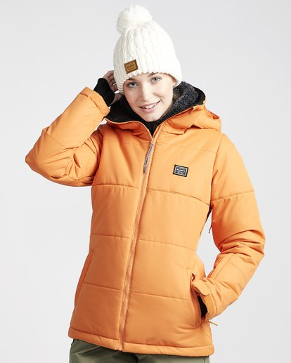 3 Women's Down Rider Snow Jacket Orange JSNJVBDR Billabong