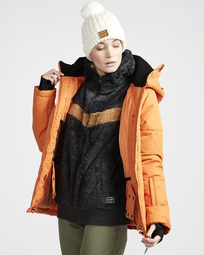2 Women's Down Rider Snow Jacket Orange JSNJVBDR Billabong