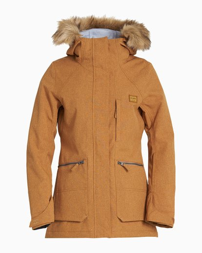 4 Women's Into The Forest Snow Jacket Yellow JSNJVBIN Billabong
