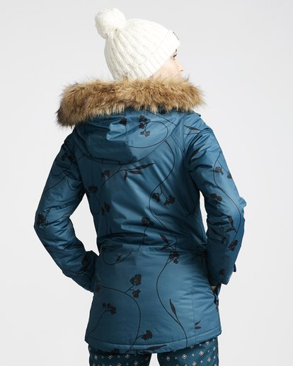 2 Women's Into The Forest Snow Jacket Blue JSNJVBIN Billabong