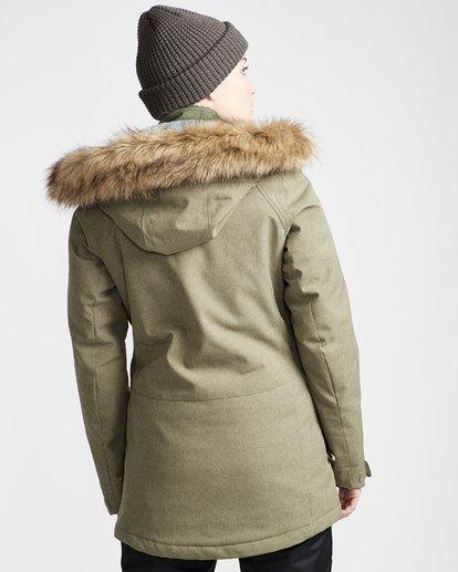 2 Women's Into The Forest Snow Jacket Green JSNJVBIN Billabong