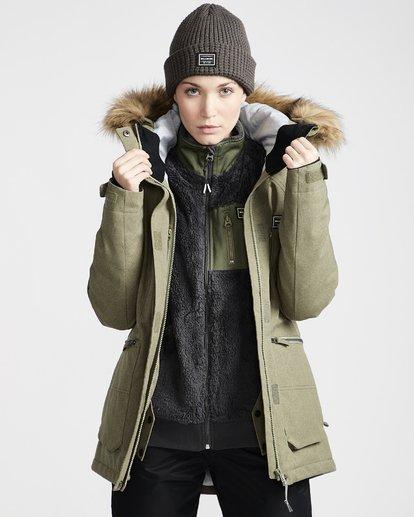 3 Women's Into The Forest Snow Jacket Green JSNJVBIN Billabong