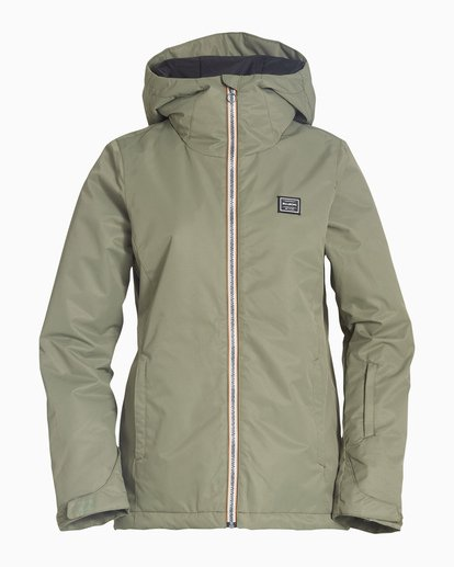4 Women's Sula Snow Jacket Green JSNJVBSU Billabong