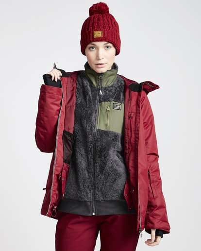 3 Women's Sula Snow Jacket Red JSNJVBSU Billabong