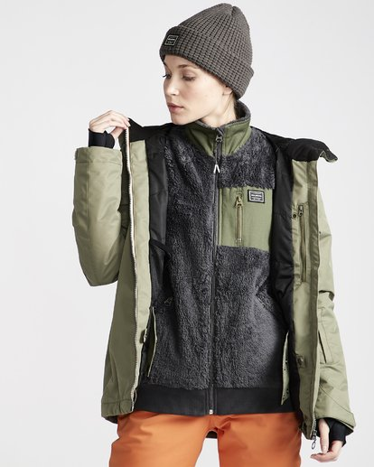 3 Women's Sula Snow Jacket Green JSNJVBSU Billabong