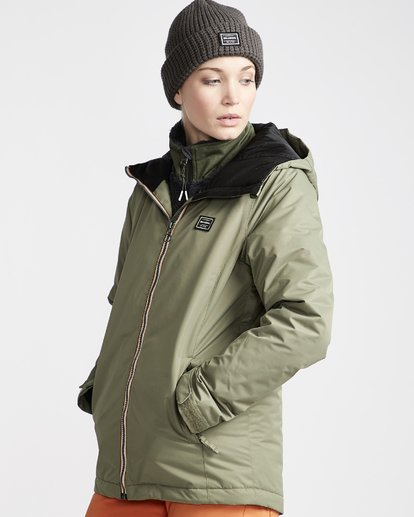 1 Women's Sula Snow Jacket Green JSNJVBSU Billabong