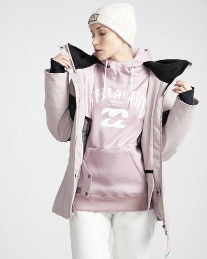 3 Women's Say What Snow Jacket Purple JSNJVBSW Billabong