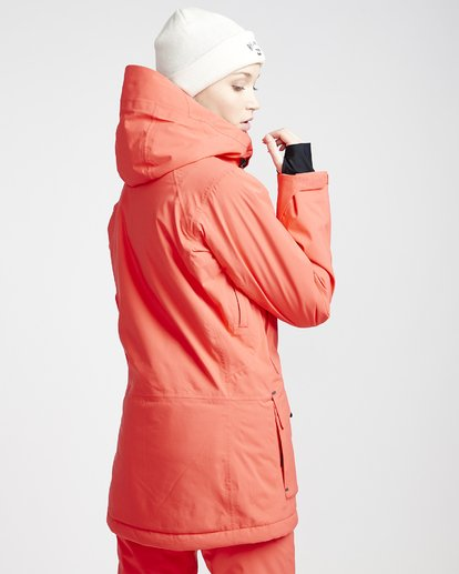 3 Women's Trooper Snow Jacket Red JSNJVBTS Billabong