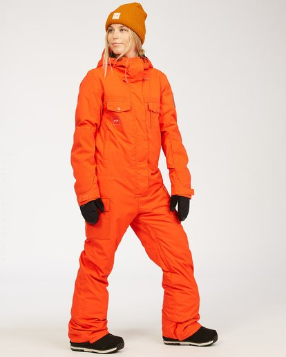 1 Women's Break Of Dawn Snow Suit Orange JSNP3BBD Billabong