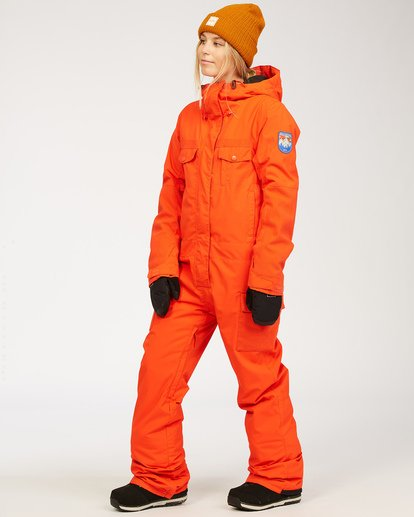 2 Women's Break Of Dawn Snow Suit Orange JSNP3BBD Billabong