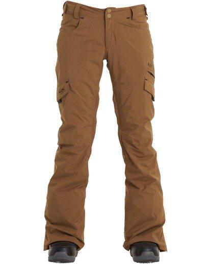 6 A/DIV Women's Nela Snow Pants Brown JSNP3BNE Billabong