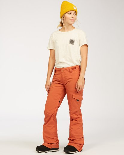 1 A/DIV Women's Nela Snow Pants Red JSNP3BNE Billabong
