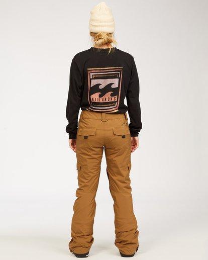 2 A/DIV Women's Nela Snow Pants Brown JSNP3BNE Billabong