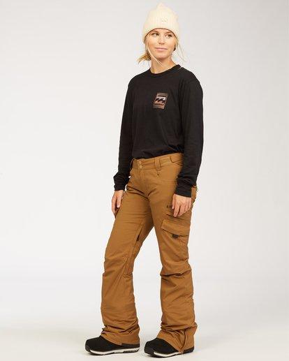 1 A/DIV Women's Nela Snow Pants Brown JSNP3BNE Billabong