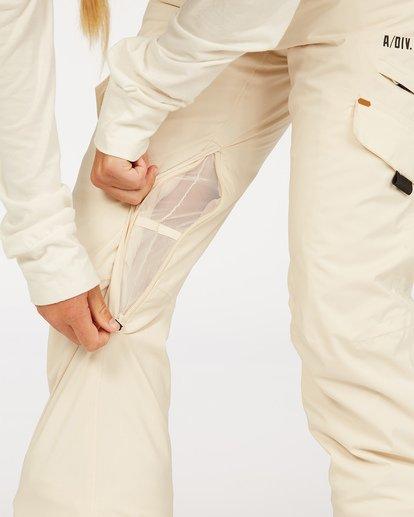 4 A/DIV Women's Nela Snow Pants White JSNP3BNE Billabong